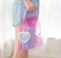 Bentoy Casual Style Nylon Crystal Clear Bags Totes