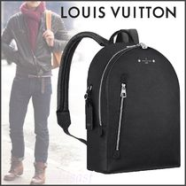Louis Vuitton TAURILLON Blended Fabrics Studded Street Style A4 Plain Leather