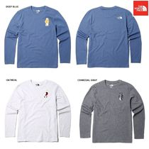 THE NORTH FACE WHITE LABEL Crew Neck Argile Unisex Low Gauge Street Style Long Sleeves