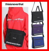 thisisneverthat Unisex Street Style Messenger & Shoulder Bags