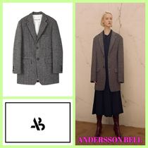 ANDERSSON BELL Other Check Patterns Unisex Long Angola Elegant Style