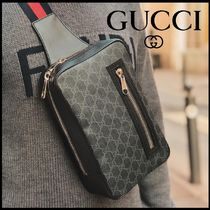 GUCCI Monogram Unisex Street Style Leather Bags
