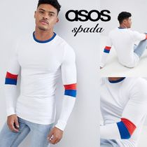 ASOS Crew Neck Street Style Bi-color Long Sleeves Cotton