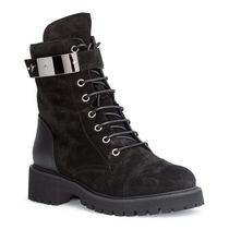 GIUSEPPE ZANOTTI Round Toe Rubber Sole Lace-up Casual Style Suede