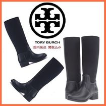 Tory Burch Round Toe Rubber Sole Casual Style Plain Flat Boots