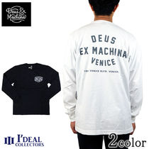 Deus Ex Machina Crew Neck Pullovers Long Sleeves Cotton Long Sleeve T-Shirts