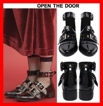 OPEN THE DOOR Platform Casual Style Street Style Lace-Up Shoes