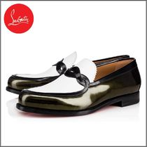 Christian Louboutin Loafers Bi-color Leather Loafers & Slip-ons