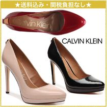 Calvin Klein Faux Fur Pin Heels Office Style Pointed Toe Pumps & Mules