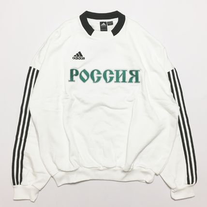 Gosha Rubchinskiy Sweatshirts Crew Neck Street Style Collaboration Long Sleeves Cotton 3