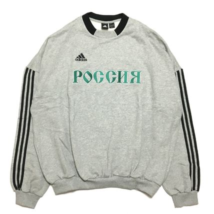 Gosha Rubchinskiy Sweatshirts Crew Neck Street Style Collaboration Long Sleeves Cotton 4
