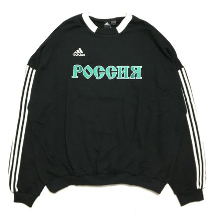 Gosha Rubchinskiy Sweatshirts Crew Neck Street Style Collaboration Long Sleeves Cotton 5