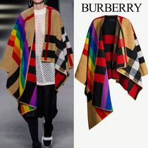 Burberry Other Check Patterns Wool Medium Ponchos & Capes