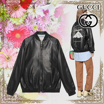 GUCCI Plain Leather Medium Varsity Jackets