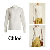 Chloe Casual Style Silk Plain Medium Shirts & Blouses
