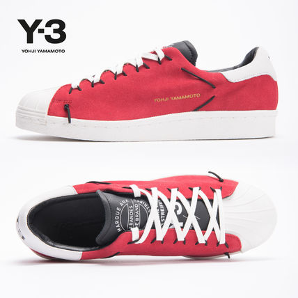 Rubber Sole Casual Style Unisex Suede Plain Low-Top Sneakers