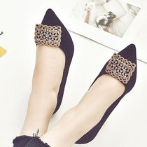 Plain Pin Heels With Jewels Elegant Style