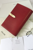 CELINE Strap Calfskin Long Wallets