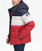 Tommy Hilfiger Short Stripes Street Style Plain Down Jackets