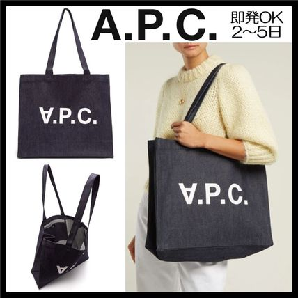 Casual Style Unisex Cambus A4 2WAY Plain Totes