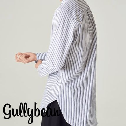 Stripes Street Style Long Sleeves Cotton Shirts