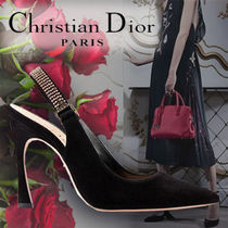 Christian Dior Suede Plain Pin Heels With Jewels Elegant Style