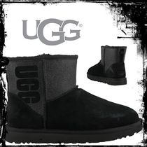 UGG Australia CLASSIC MINI Casual Style Unisex Street Style Leather Wedge Boots