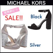 Michael Kors Open Toe Plain Block Heels Party Style Home Party Ideas