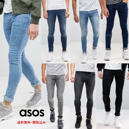 ASOS Skinny Fit Denim Street Style Plain Skinny Fit Jeans & Denim