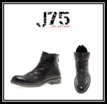 J75 by JUMP Plain Toe Faux Fur Plain Boots