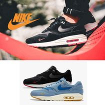 Nike AIR MAX 1 Faux Fur Street Style Plain Sneakers