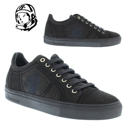Plain Other Animal Patterns Leather Sneakers