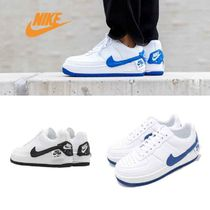 Nike AIR FORCE 1 Casual Style Faux Fur Street Style Plain Low-Top Sneakers