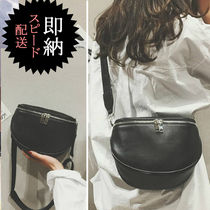 Casual Style PVC Clothing Shoulder Bags