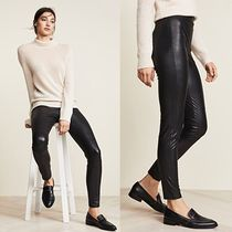 SPLENDID Faux Fur Plain Leather & Faux Leather Pants