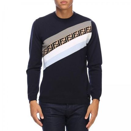 FENDI Long Sleeve Crew Neck Long Sleeves Long Sleeve T-Shirts