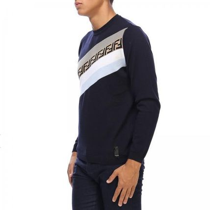 FENDI Long Sleeve Crew Neck Long Sleeves Long Sleeve T-Shirts 2
