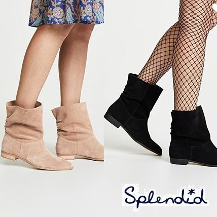Suede Plain Ankle & Booties Boots