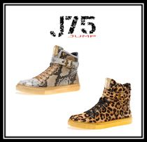 J75 by JUMP Faux Fur Street Style Other Animal Patterns Python Sneakers