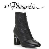 3.1 Phillip Lim Casual Style Plain Leather Chunky Heels