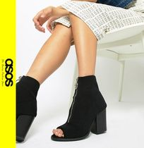 ASOS Casual Style Block Heels Ankle & Booties Boots