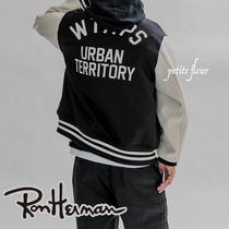 Ron Herman Short Unisex Street Style Collaboration Varsity Jackets
