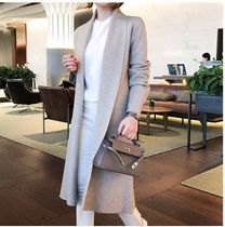 TOM&RABBIT Casual Style Long Sleeves Plain Long Angola Gowns Oversized