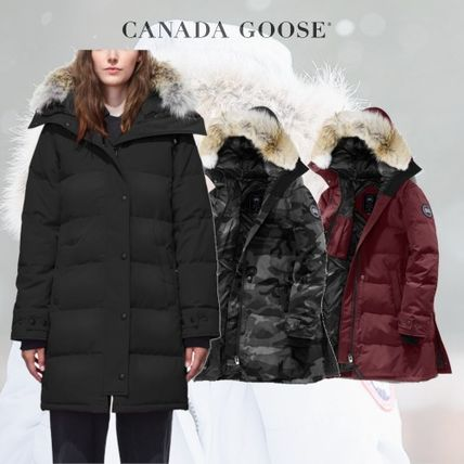 ... CANADA GOOSE Down Jackets Casual Style Fur Long Bold Down Jackets ...