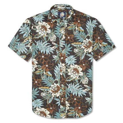 Button-down Flower Patterns Tropical Patterns Cotton