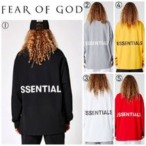 FEAR OF GOD Crew Neck Long Sleeves Cotton Long Sleeve T-Shirts