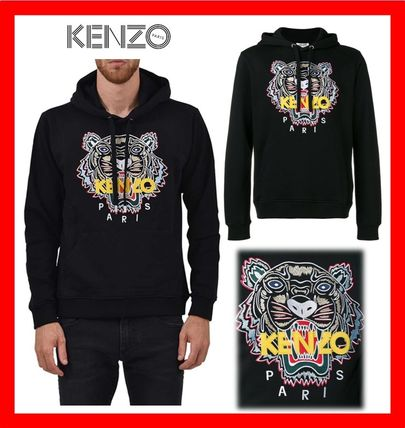 KENZO Hoodies Street Style Long Sleeves Cotton Designers Hoodies