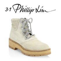 3.1 Phillip Lim Mountain Boots Round Toe Casual Style Suede Plain