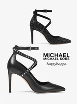 Michael Kors Studded Leather Pin Heels Stiletto Pumps & Mules