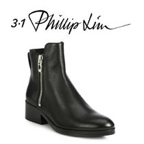 3.1 Phillip Lim Round Toe Casual Style Plain Leather Block Heels